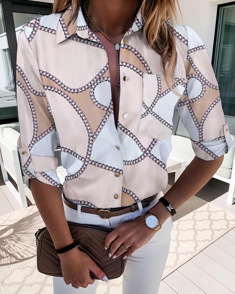 ivrose / Camisa casual estampada com botões