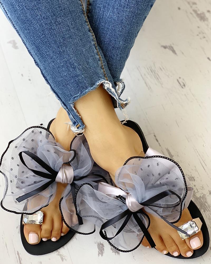 Women's Cute Bowtie Decorate Non-Slip Sandals фото