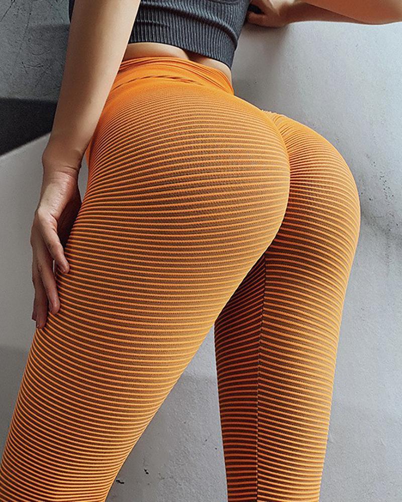 High Waist Solid Yoga Pants фото
