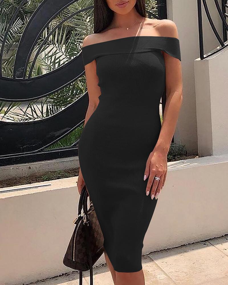 boutiquefeel / Dobre Over Shoulder Midi Dress