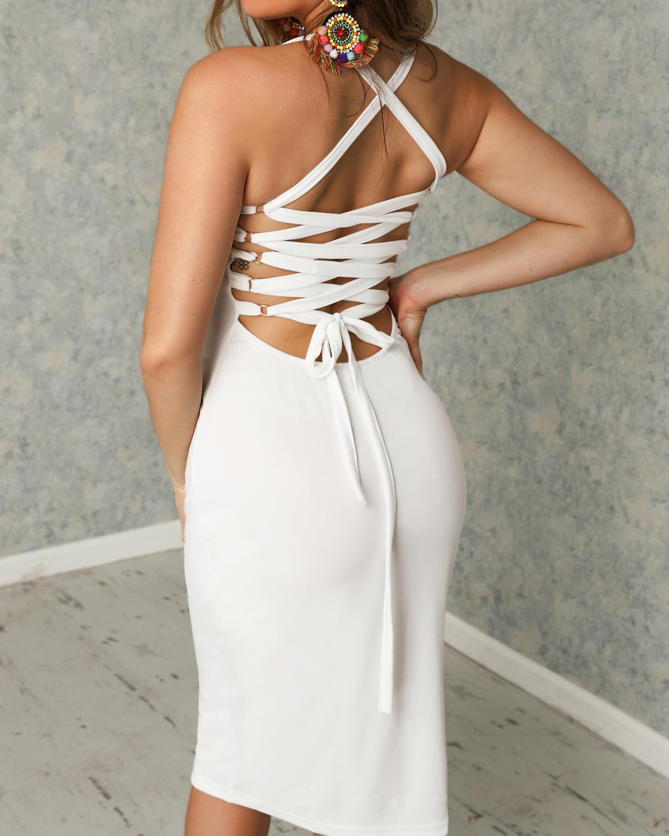 DressSexy Bandage Strappy Back Bodycon фото