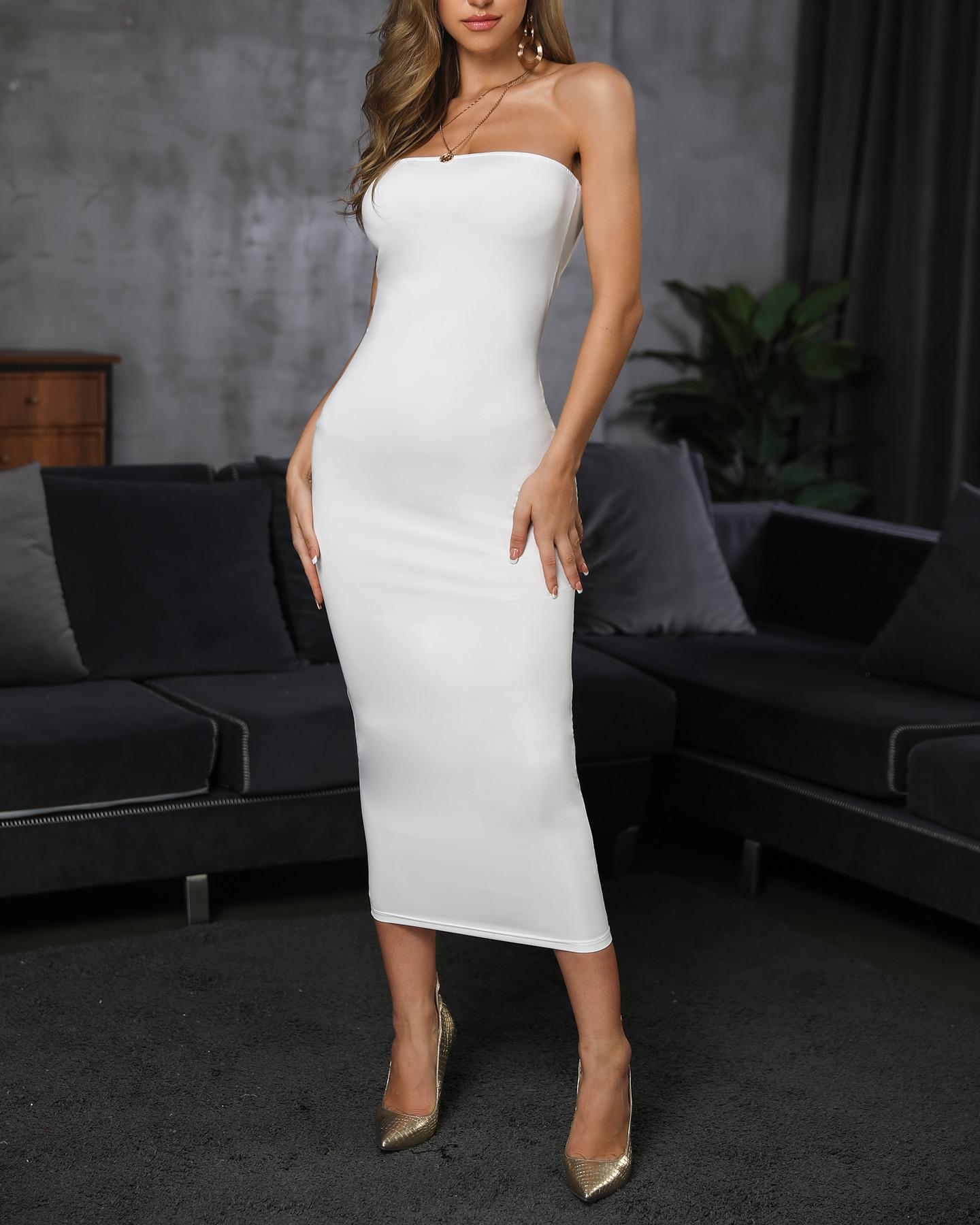 Bandeau Sleeveless Maxi Dress фото