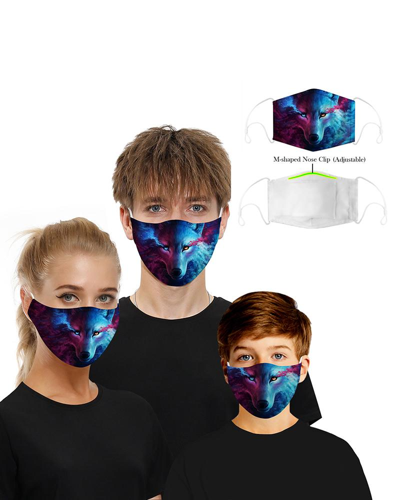 Face Print Breathable Mouth M .a. s. k Washable And Reusable фото