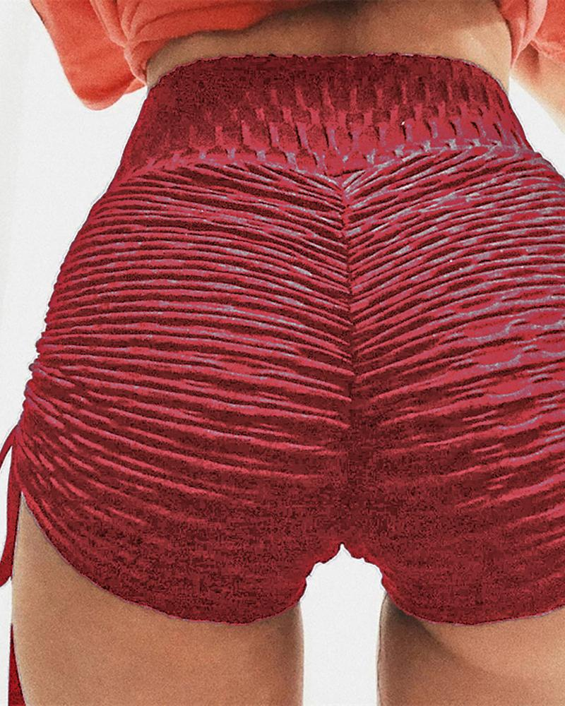 High Waist Ruched Shorts фото