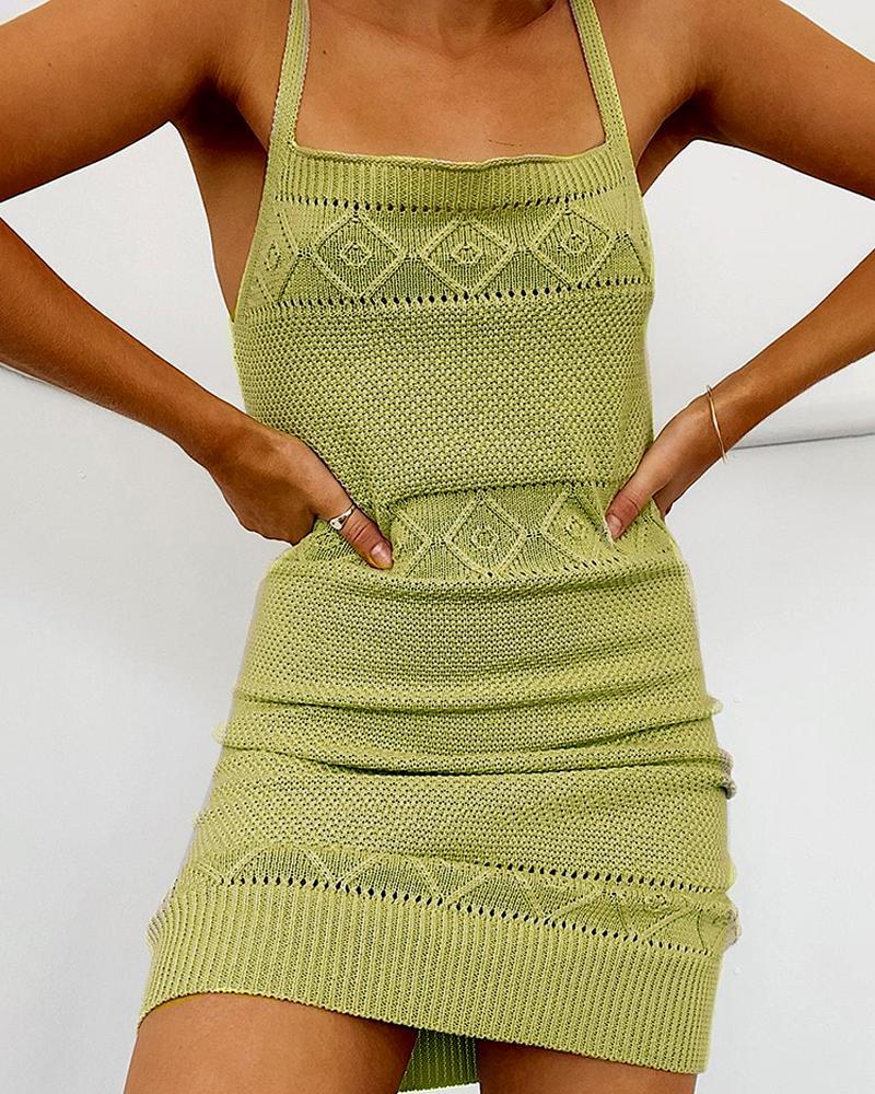 Knitted Cami Mini Dress фото