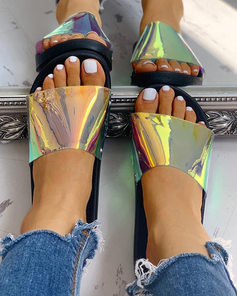 Coloured Beach Slipper Shoes фото