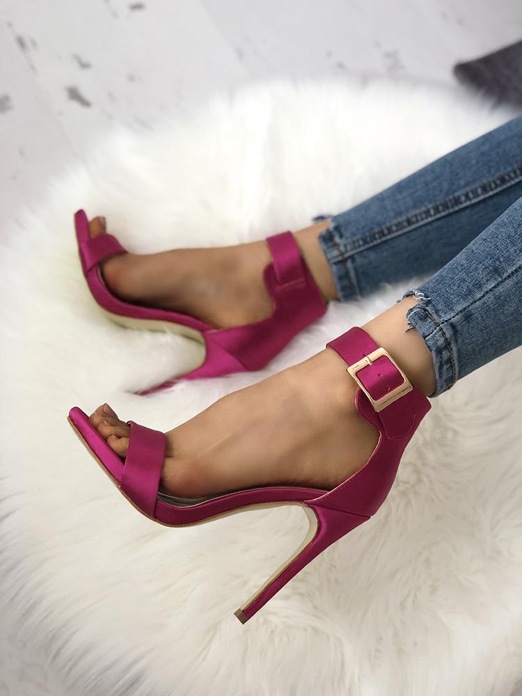 Fashion Open Toe Cocktail Party Thin Heel Pump фото