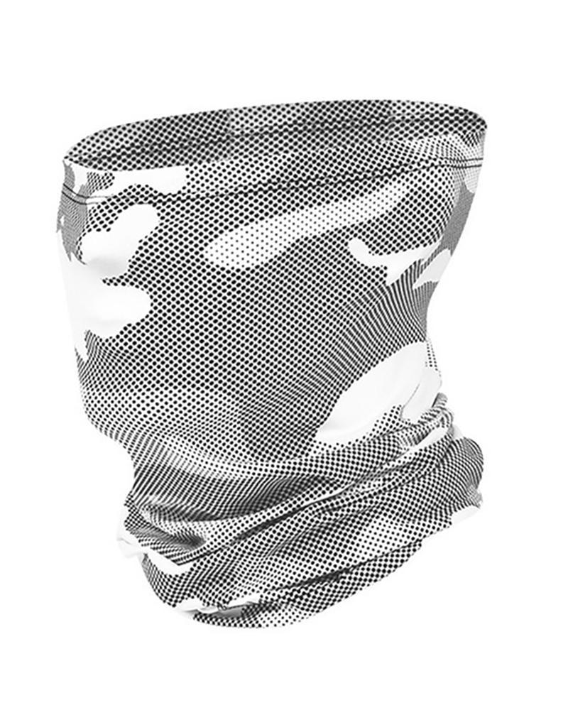 Camouflage Print Breathable FaceBandana Headwrap фото