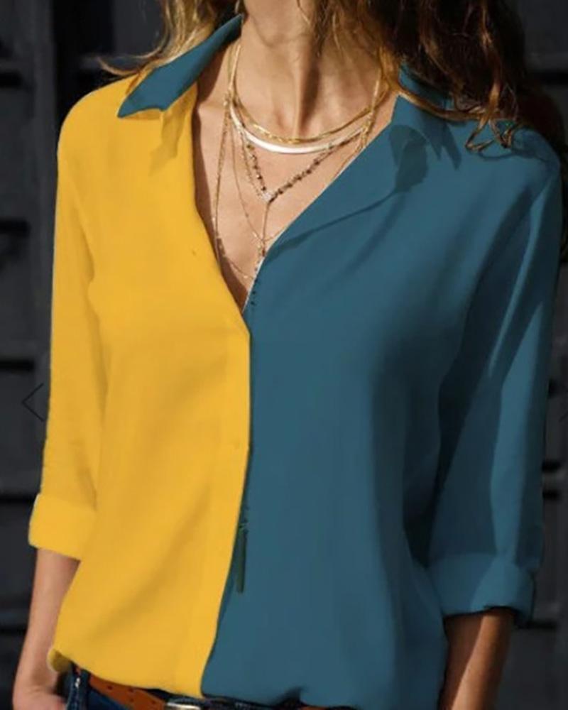 boutiquefeel / Camisa de manga comprida com decote em v