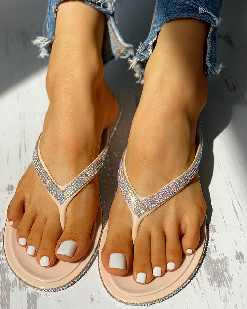 Glitter Sequin Embellished Sandals фото
