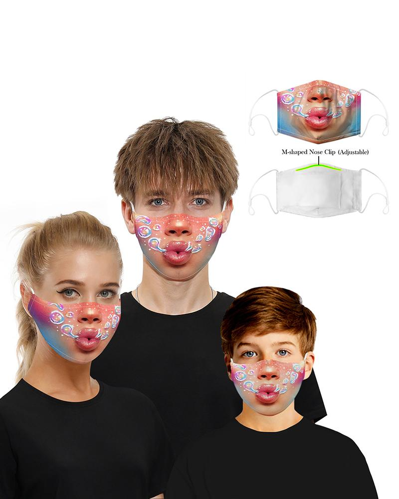 Print Mouth M .a. s. k Breathable Washable And Reusable фото