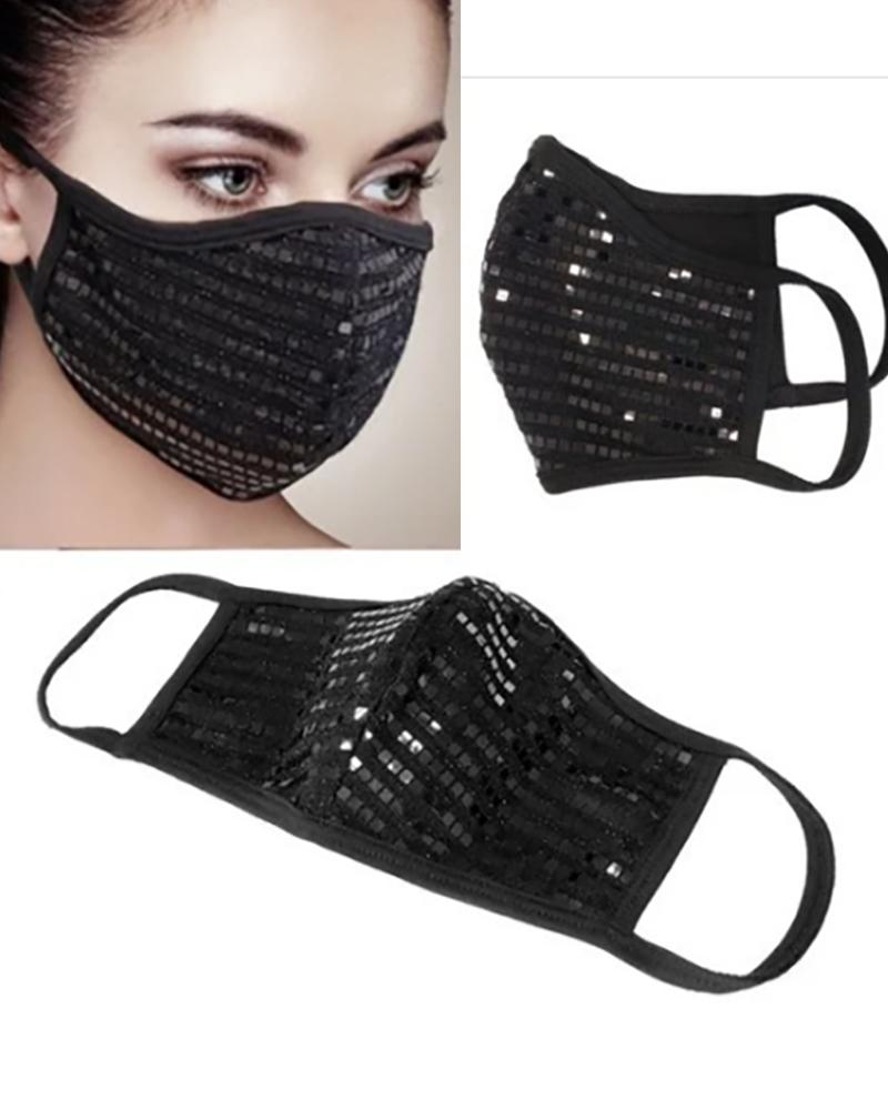 Sequins Breathable Mouth Mask Reusable фото