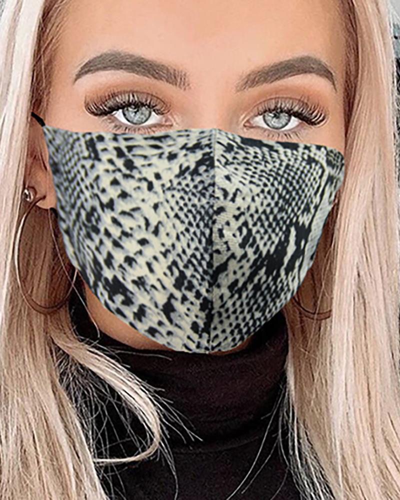 Snakeskin Breathable Mouth M .a. s. k Washable And Reusable фото