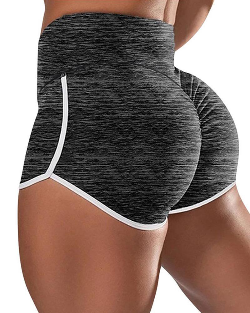 Contrast Trim Yoga Shorts фото