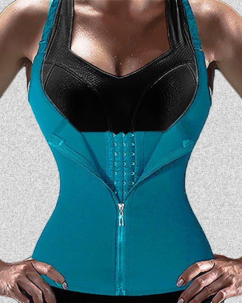 Zipper Waist Trainer Corset Neoprene Sweat Belt Tummy Slimming Sport Shapewear фото