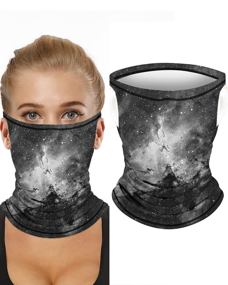 Print Breathable Ear Loop FaceBandana Headwrap фото
