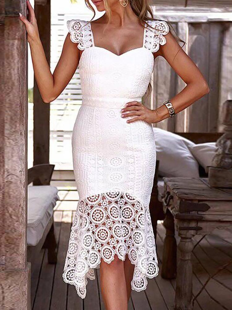 Hollow Out Crochet Lace Dress