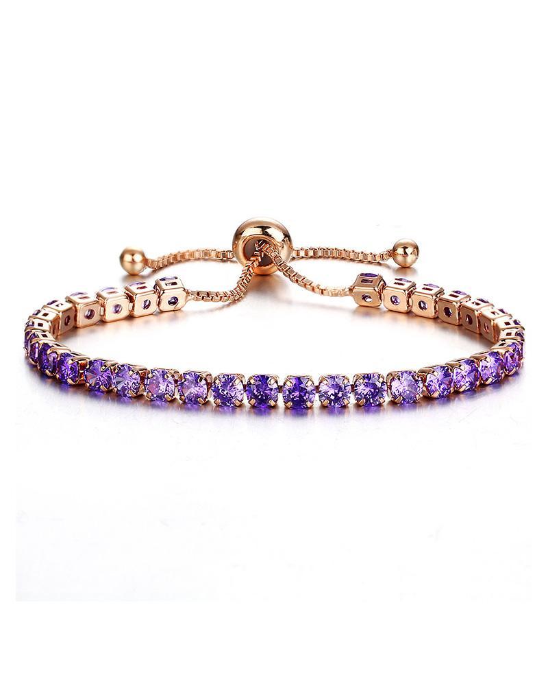 Rhinestone Adjustable Chain Bracelet фото