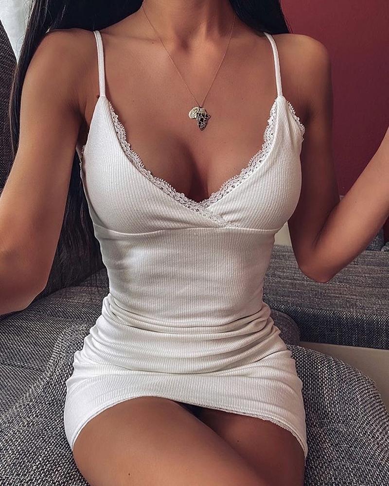 boutiquefeel / Mini vestido con tirantes finos y tirantes finos