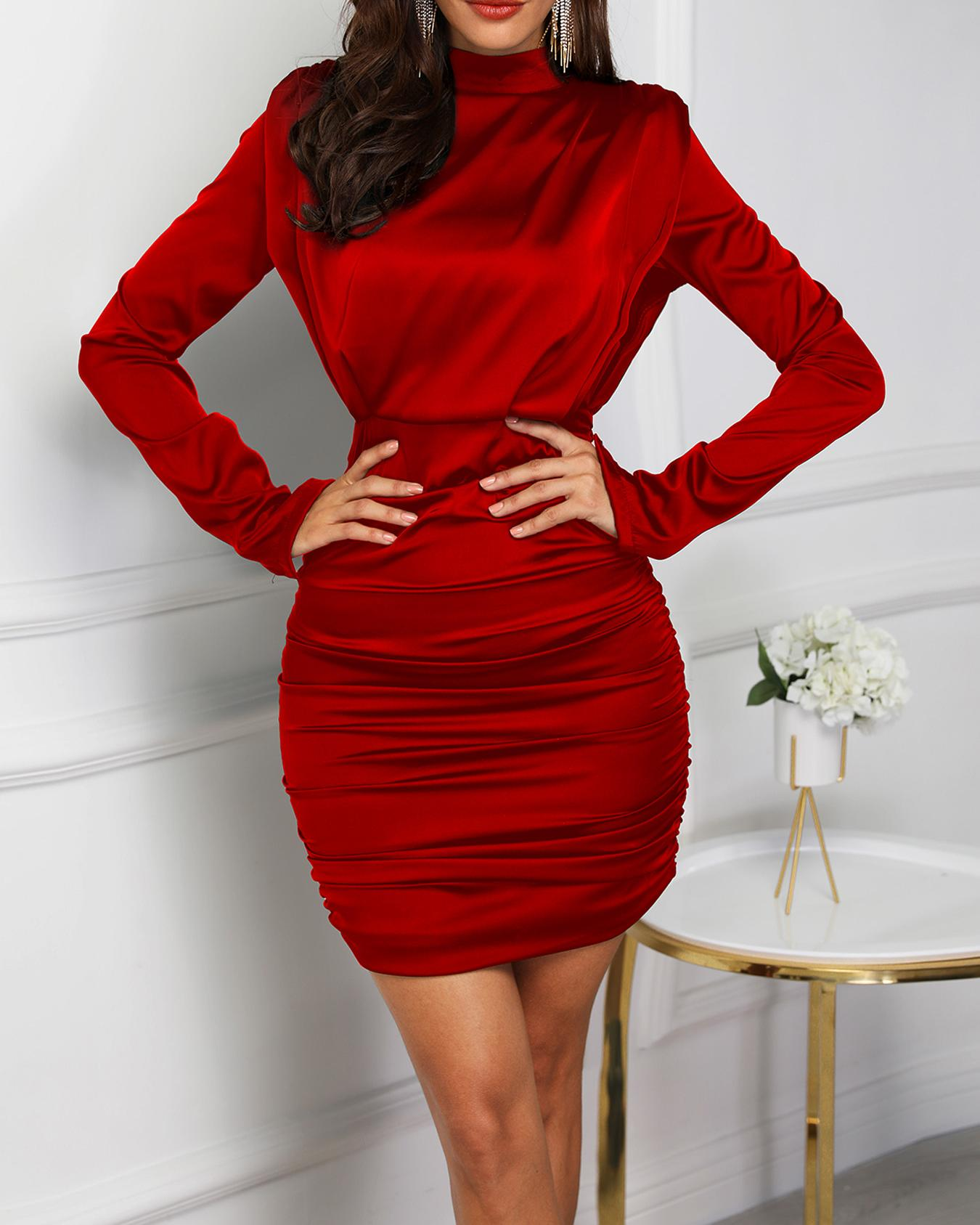 Cutout Back Ruched Bodycon Party Dress фото