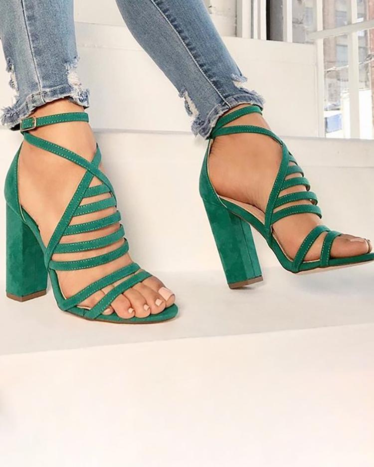 Strappy Open Toe Stiletto Sandals фото