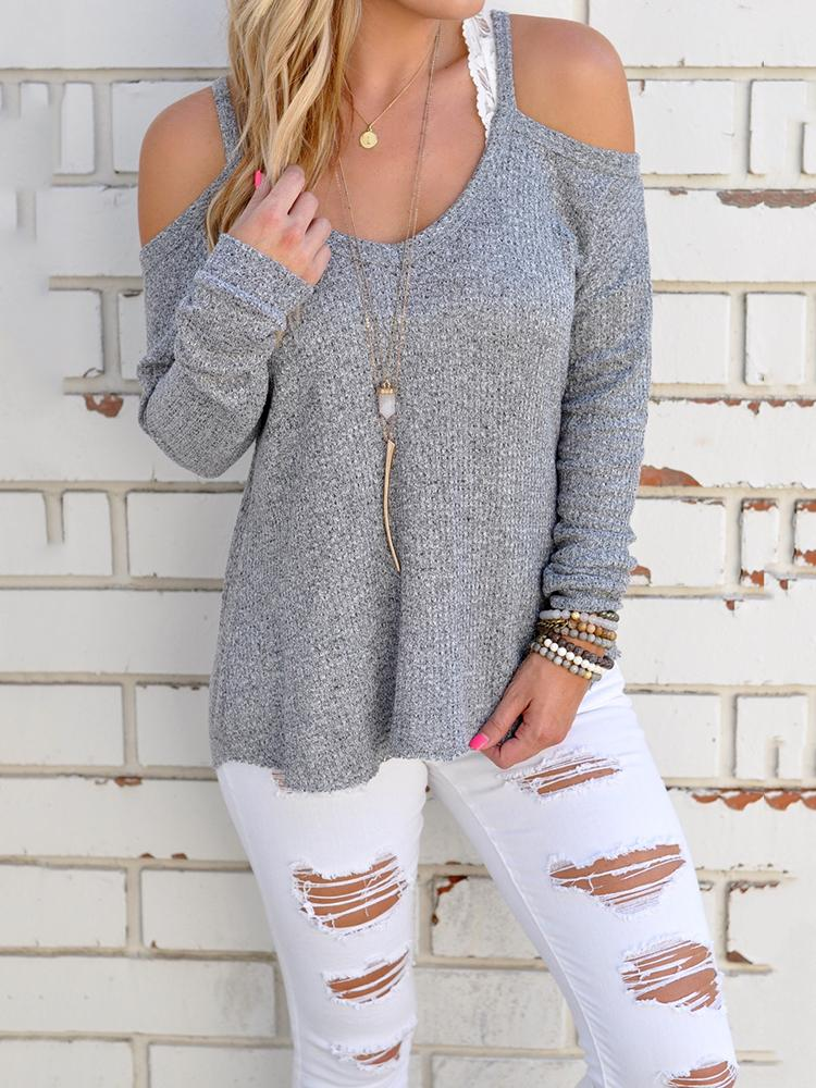 Sexy Women Cold Shoulder Casual Blouse фото
