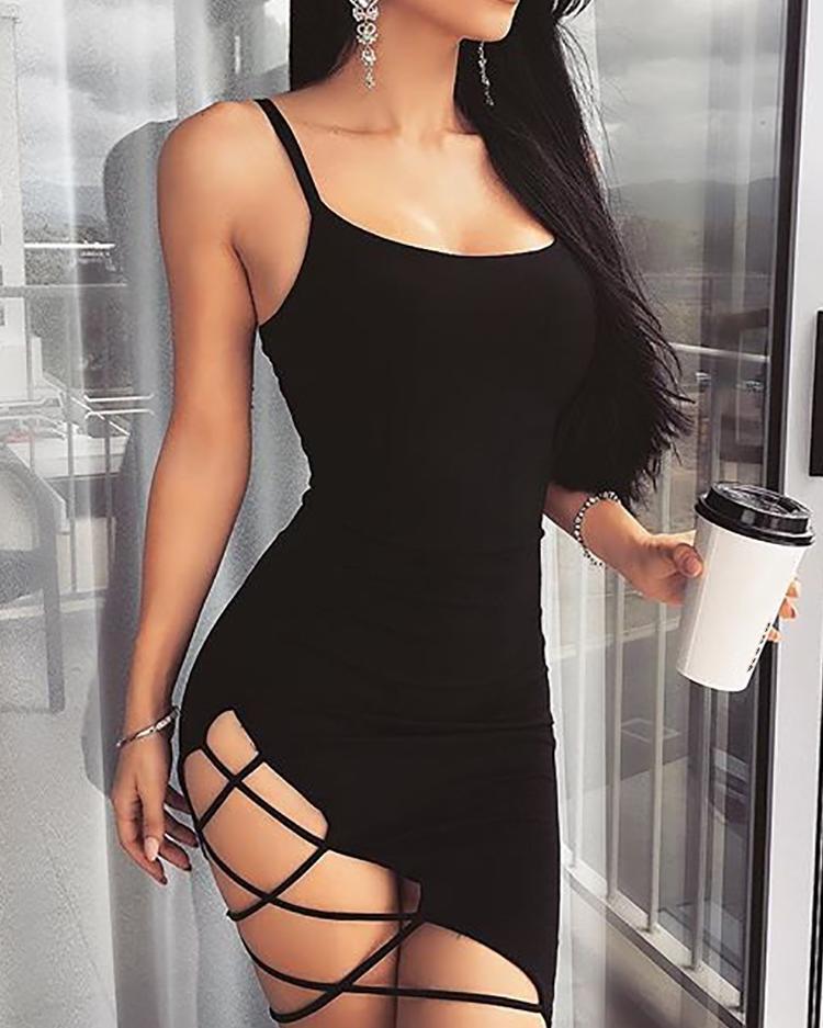 chicme / Vestido mini slip entallado lateral entallado