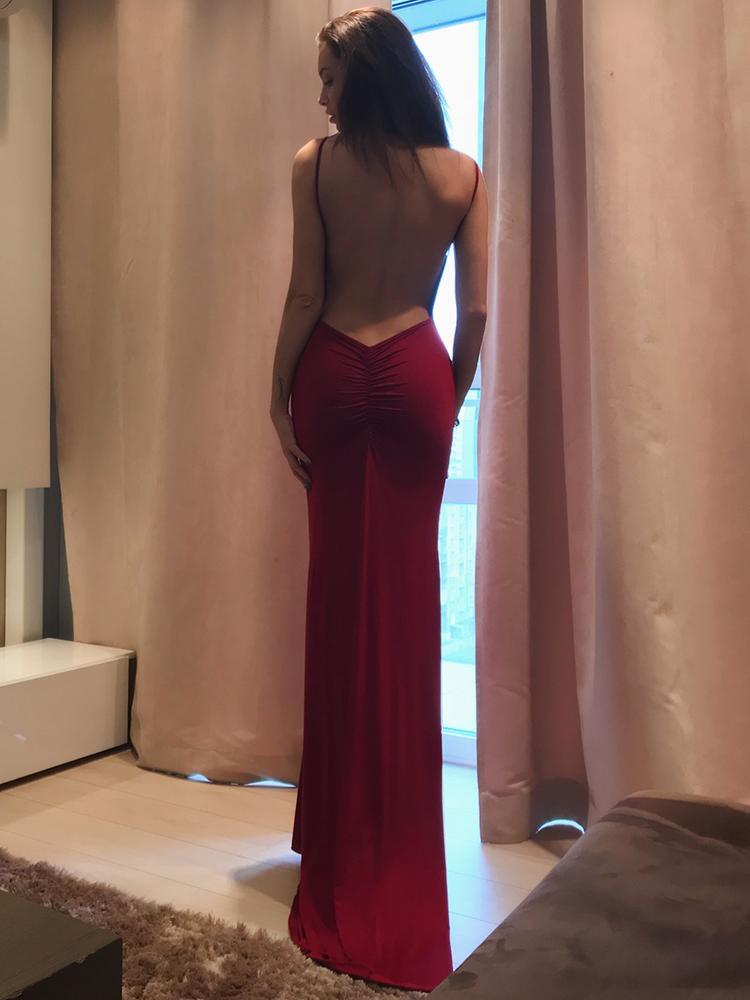 Elegant Women Open Back Maxi Slip Dress