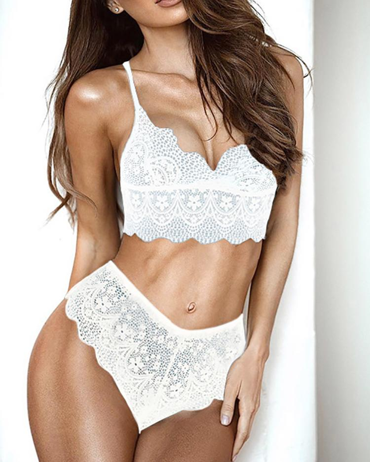 Sexy See Through Lace Strappy Lingerie Sets фото
