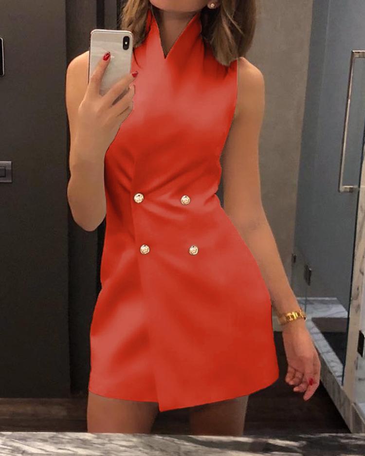 Double Breasted Mini Blazer Dress фото