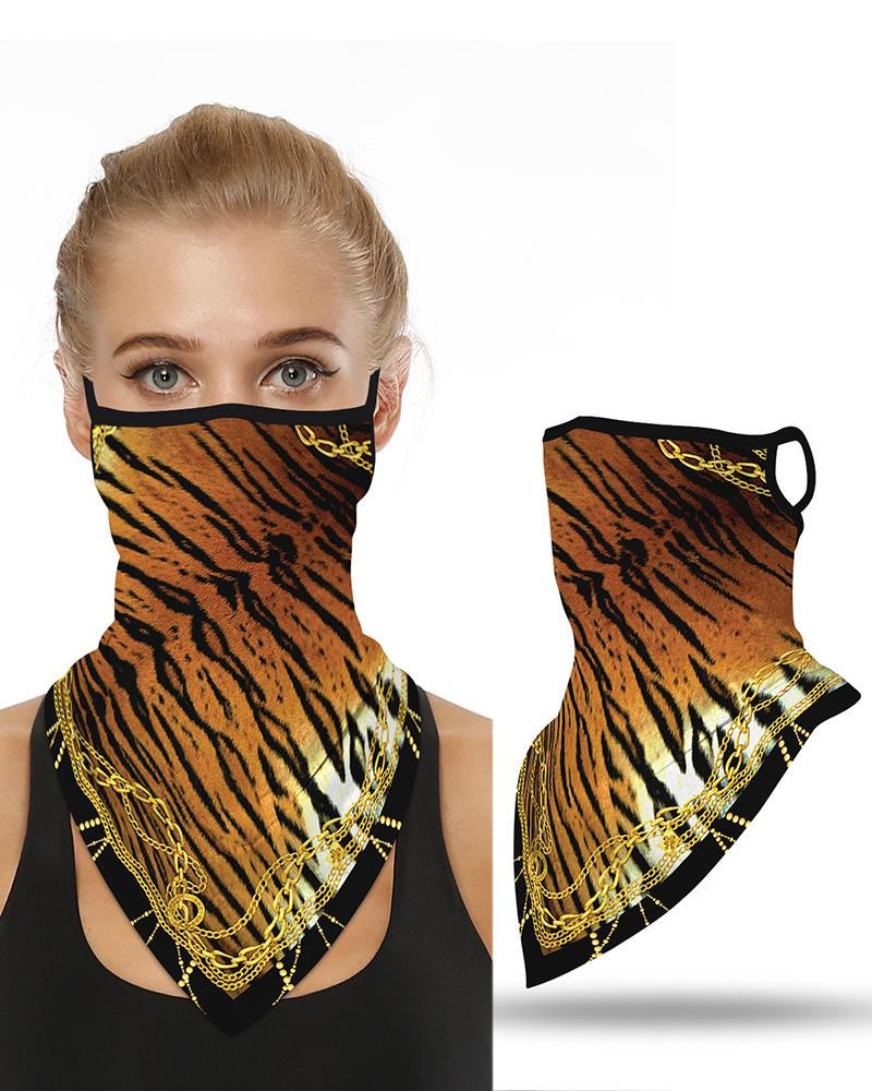 chicme / Cadena Impresión de tigre Orejera transpirable Cubierta de la cara A prueba de viento Motociclismo Polvo al aire libre
