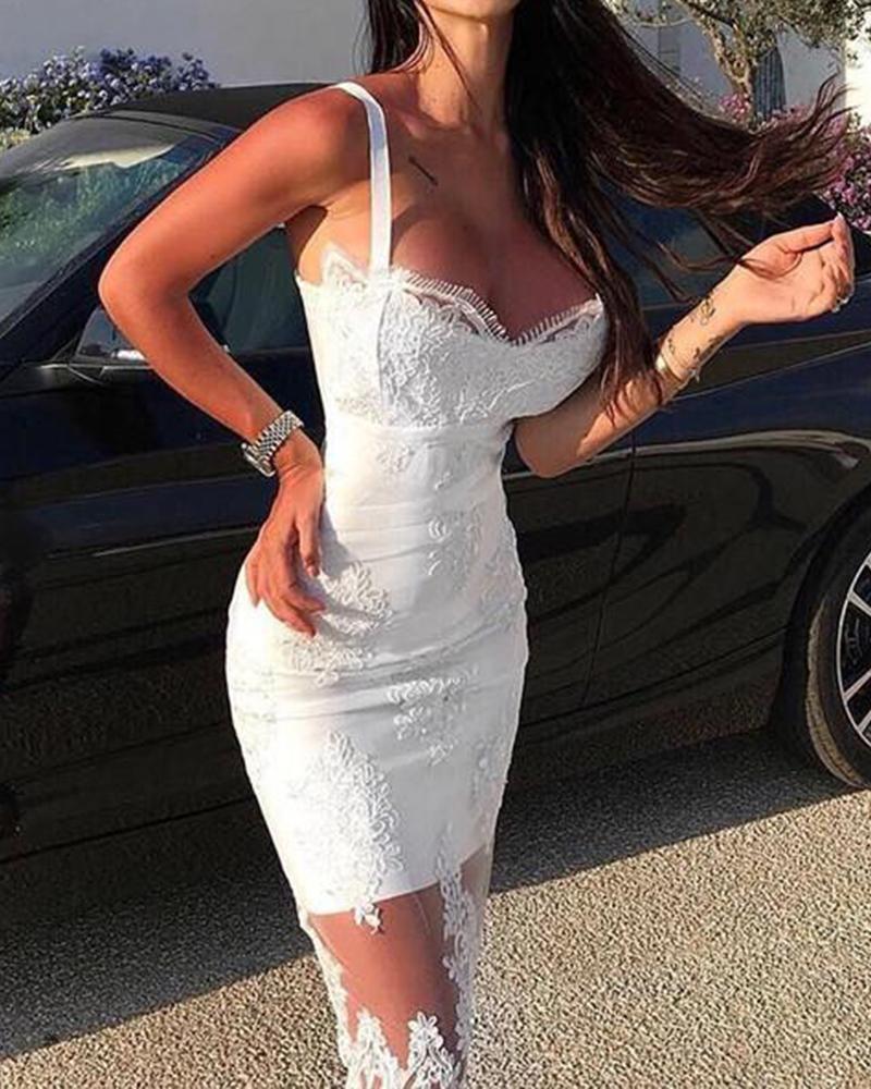 boutiquefeel / Vestido ajustado con tirantes de espagueti