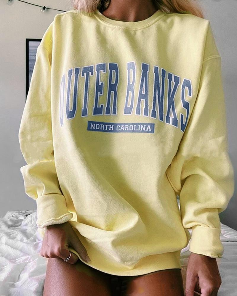 Fashion Cozy Letter Print Sweatshirt фото