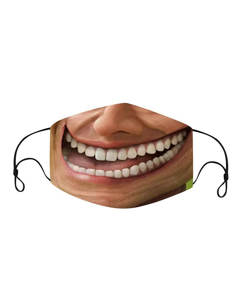 ivrose / Mascarilla facial transpirable con expresión facial divertida