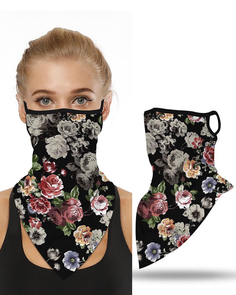 Floral Print Breathable Ear Loop Face Cover Windproof Motorcycling Dust Outdoors Bandana фото