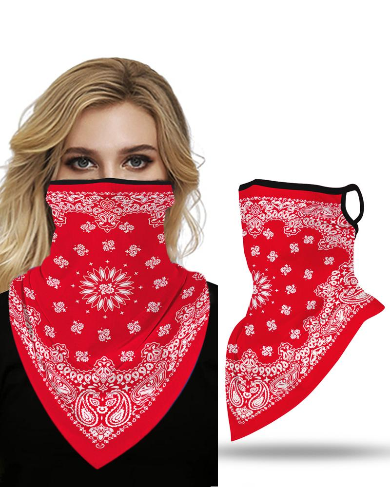 Print Breathable Ear Loop Face Cover Windproof Motorcycling Dust Outdoors фото