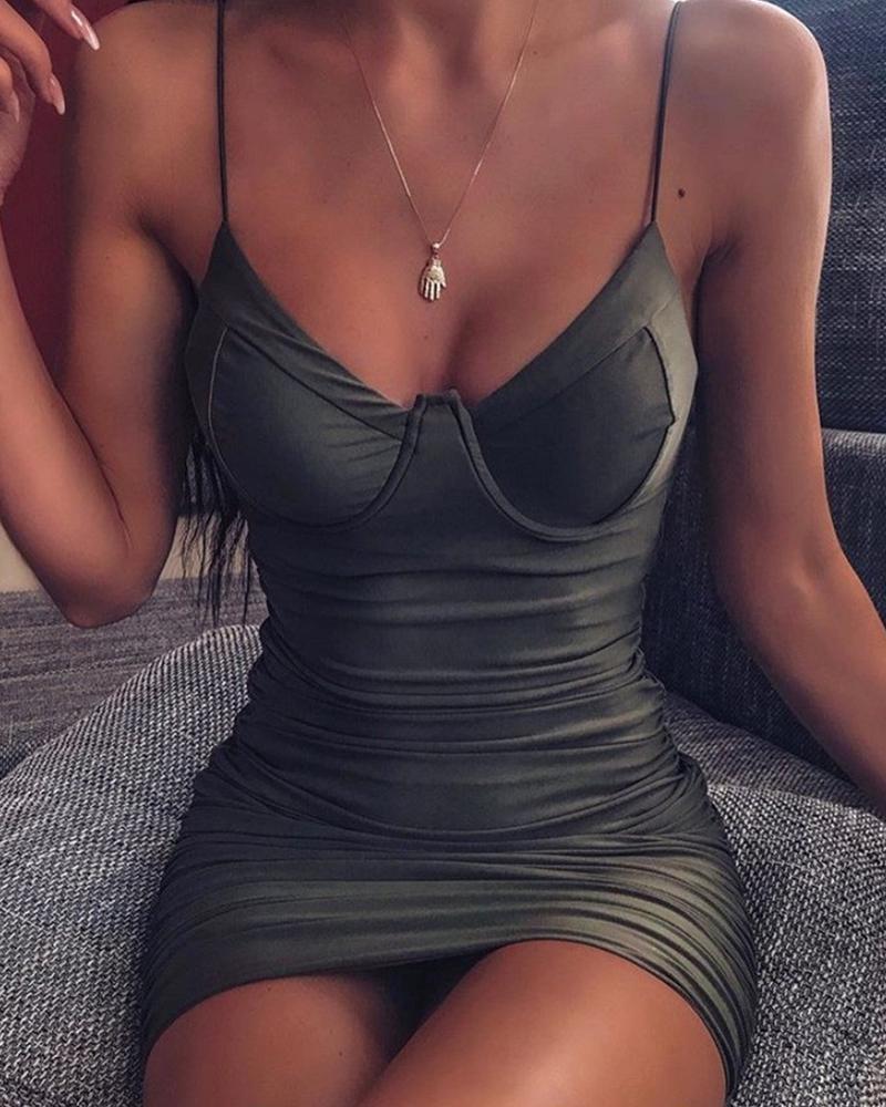 chicme / Vestido Mini Cami Ruched Bodycon