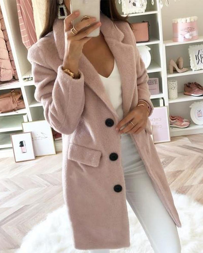 boutiquefeel / Shawl Collar Button Coat