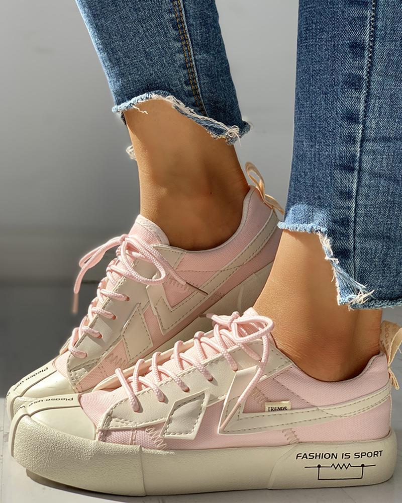 chicme / Zapatillas de deporte ocasionales patchwork con cordones