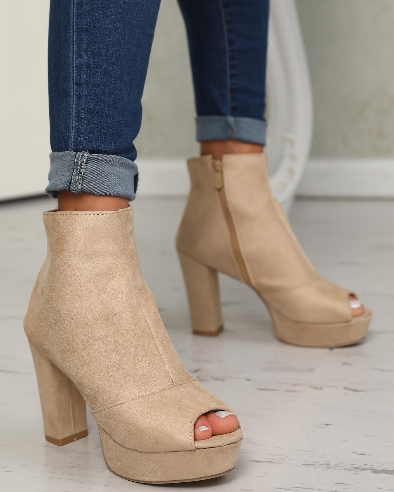 Stylish Solid Color Open Toe Chunky Pumps фото