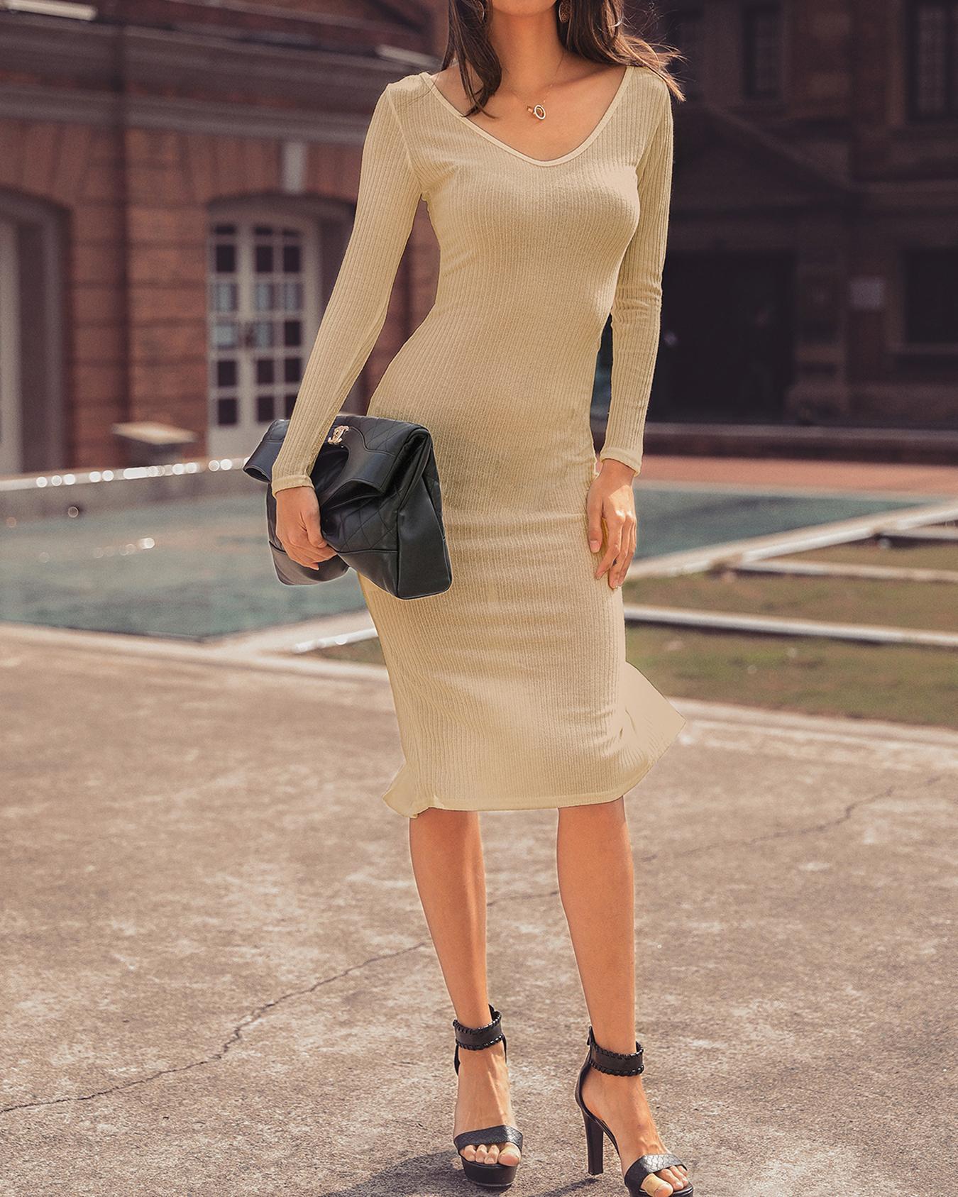 Rib-knit Off Shoulder Bodycon Maxi Dress фото