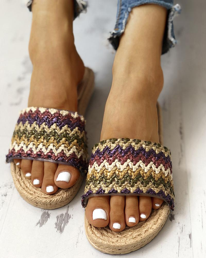 Boho Style Braided Flat Sandals фото
