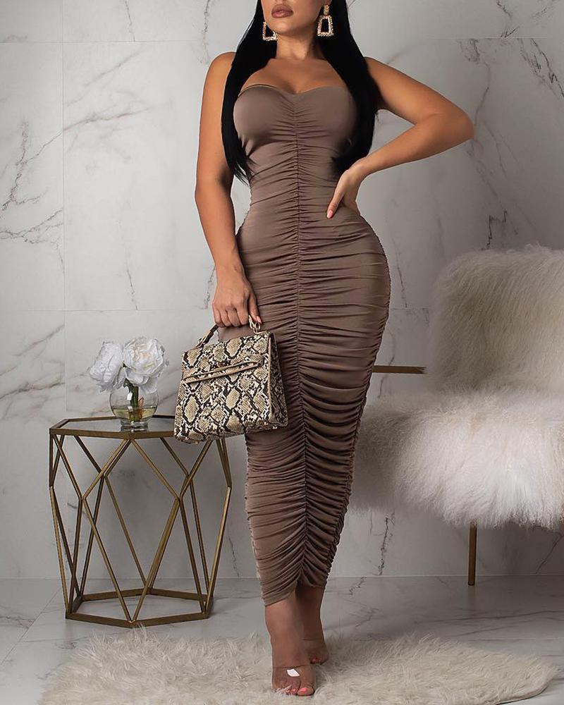 Ruched Design Tube Dress фото