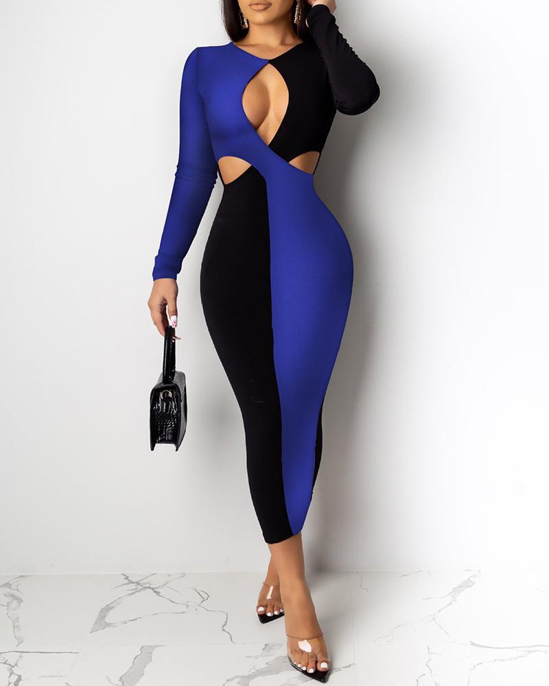 boutiquefeel / Vestido de Bodycon no peito com corte colorido