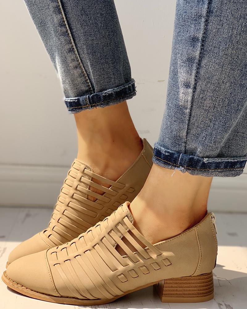 Pointed Toe Hollow Out Shoes