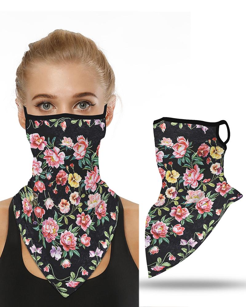 Floral Print Breathable Ear Loop Face Cover Windproof Motorcycling Dust Outdoors фото