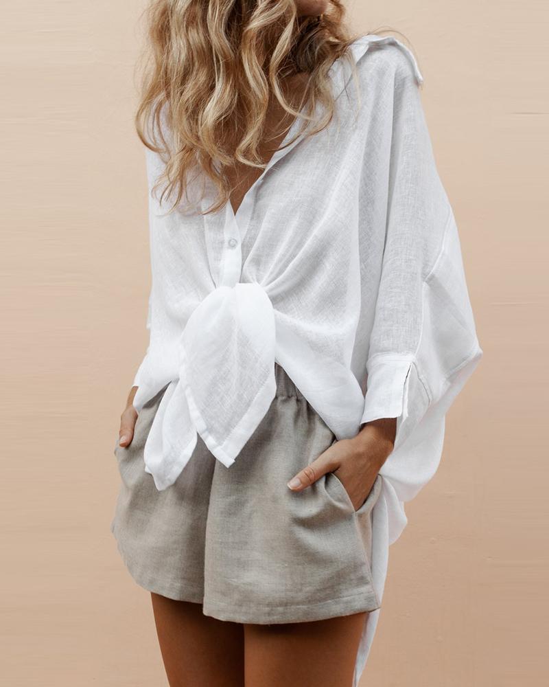 chicme / Camisa básica de dobladillo