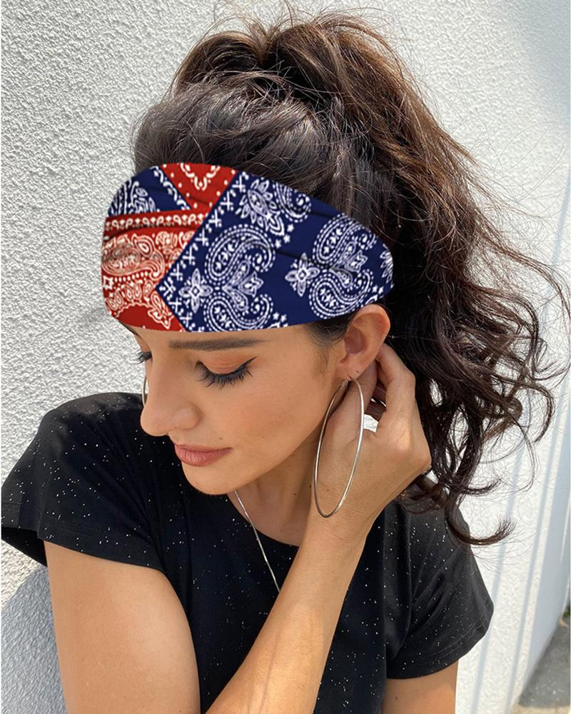 Print Yoga Running Headwraps Hair Band фото