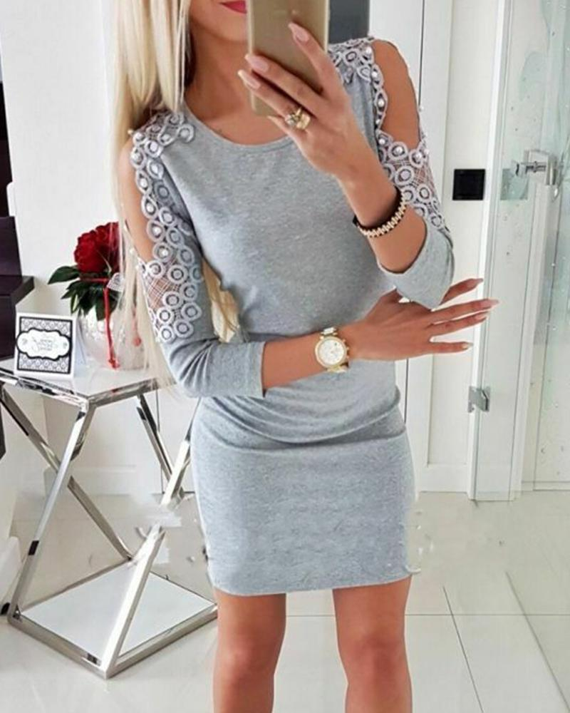 Cut Out Sleeve Bodycon Dress фото