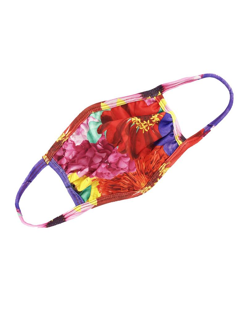 Floral / Tie Dye Print Ear Loop Breathable Mouth Mask фото